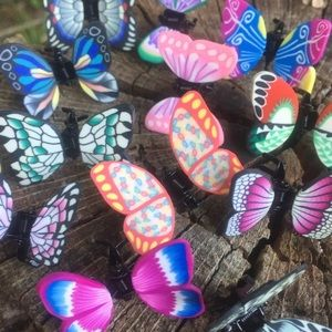 🦋 Seven Butterfly Claw Hair Clips 🦋